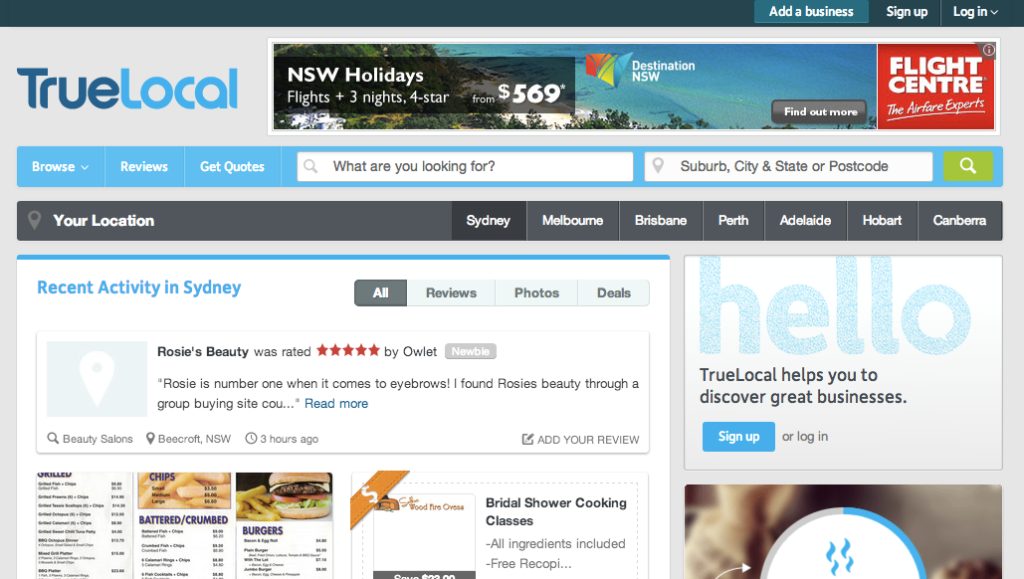 Day 59  - truelocal-com - screenshot rank 1 - doyle buehler the digital delusion